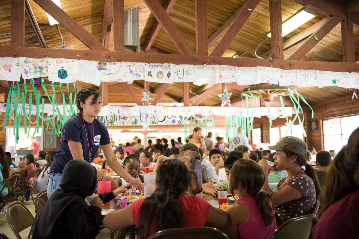 Circle V Ranch Camp Dining Hall