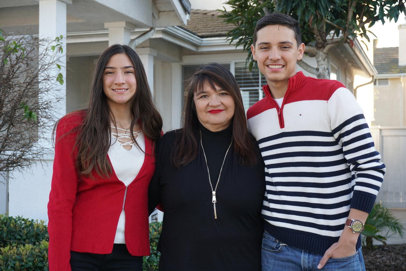 Herrera family who attended Circle V Ranch Camp