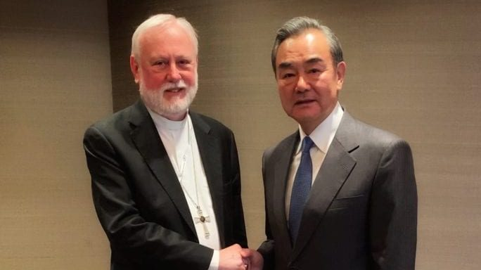Chinese, Vatican foreign ministers hold first meeting