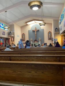 St. Didacus Church in Sylmar welcomed Massgoers back inside after many long months of outdoor Masses.